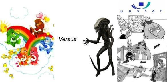 Bisounours vs. Alien in LaMaisonQuiRendFou Le score est à peu près de 34 à 29863.
