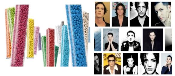 Pour ce qui est du Placebo, au moins, chez M&Ms, ils ont un sacré choix de couleur. Alors que Brian Molko est toujours en noir.