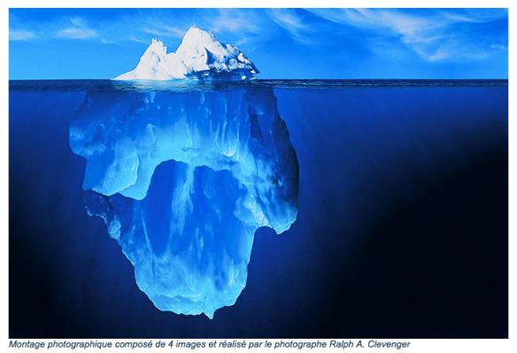 Physique de base : si la partie sous-marine  de l'iceberg s'en va, la surface coule.